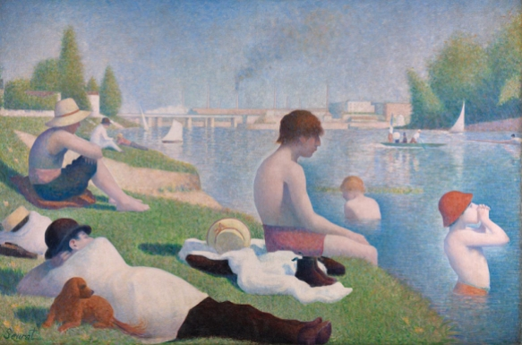 Georges Seurat, Bathers at Asnières, 1884, The National Gallery, London
