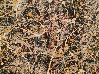 Jackson Pollock, detail from Number 1, 1949, MOCA, Los Angeles