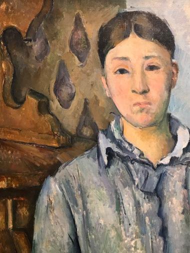 Detail from Madame Cézanne en bleu © The Museum of Fine Arts, Houston,