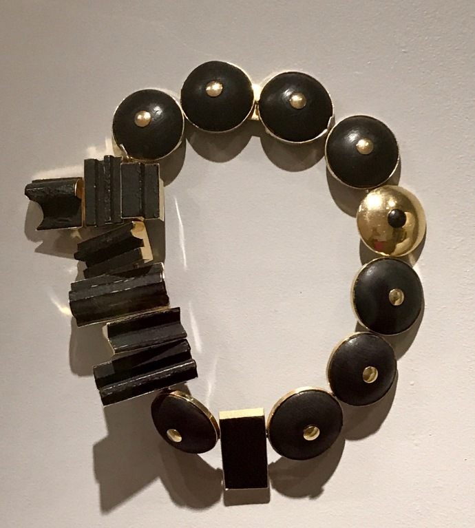 Louise Nevelson, Wood and Gold Necklace, 1960's