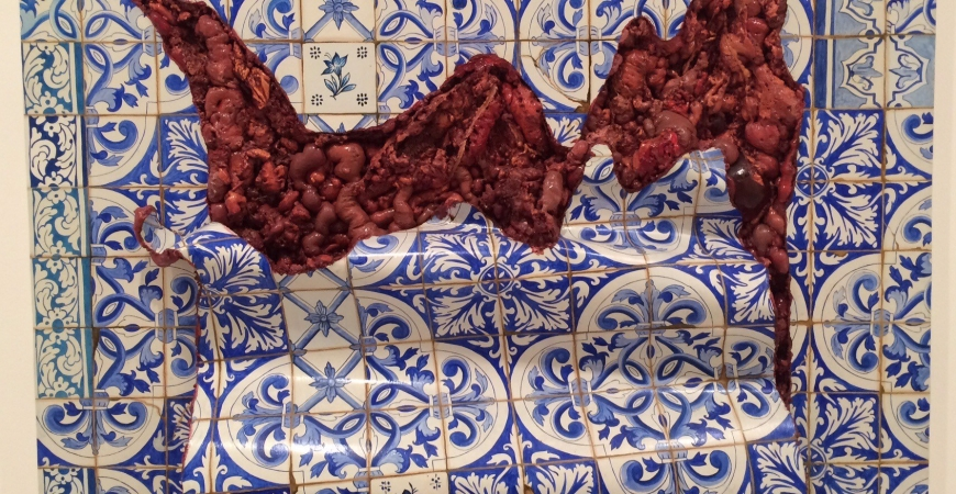 Adriana Varejão 's Interiors and Analia Saban' Faults make a Halloween Special