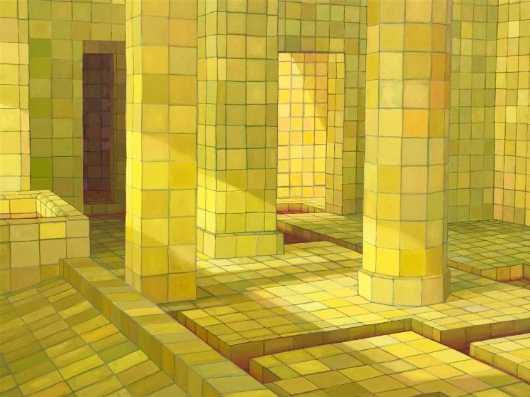Adriana Varejão, detail from O iluminado (2009), Gagosian Beverly Hills